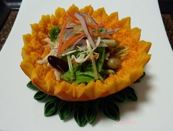 かぼちゃのお皿・豆サラダB.jpg
